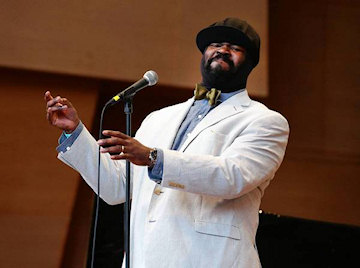 Gregory Porter performing at the Jay Pritzker Pavilion during the Chicago Jazz Festival, on Saturday. (Nuccio DiNuzzo, Chicago Tribune / August 30, 2013)